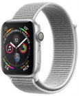 Умные часы Apple Watch Series 4 44 mm with Sport Loop (Silver/White Shell)