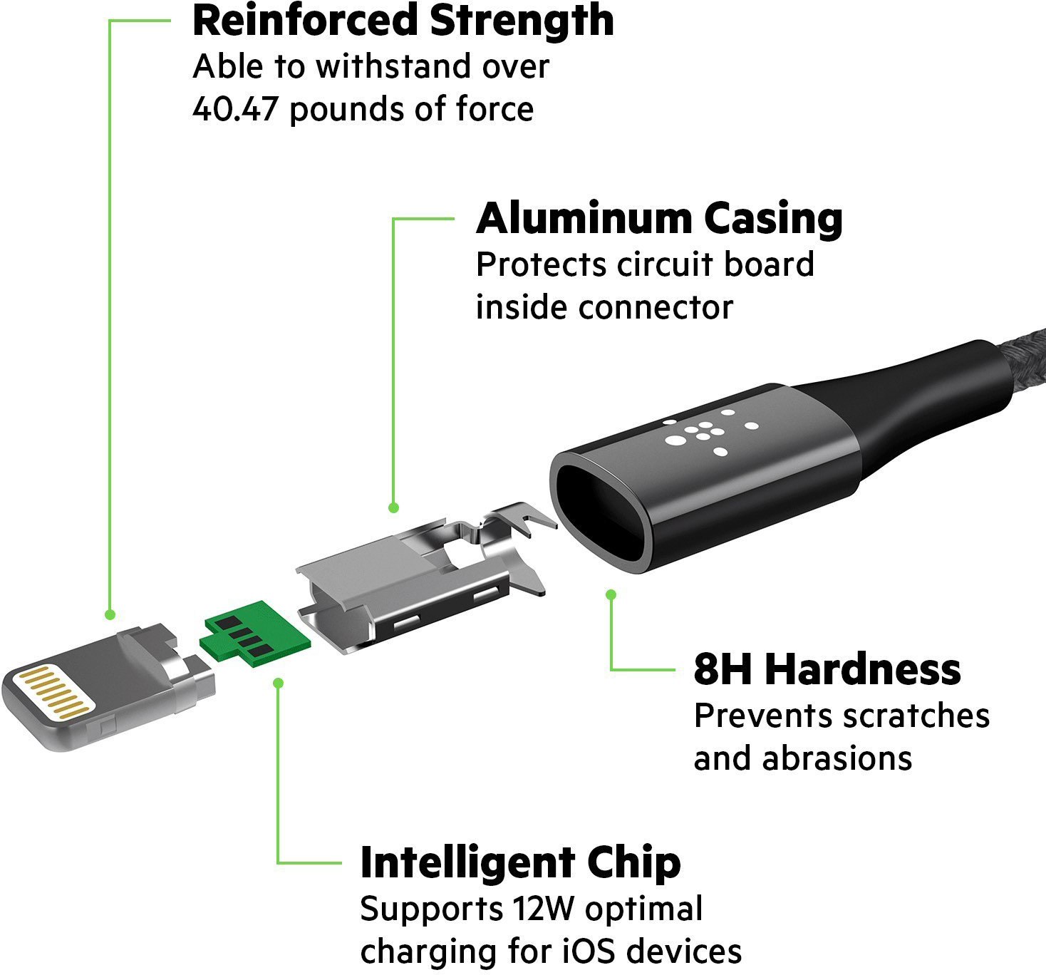 Кабель Belkin Mixit DuraTek Lightning to USB 1.2 m