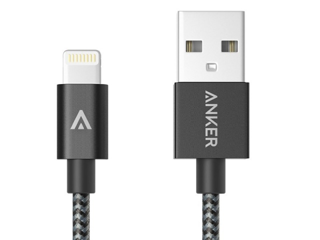 Anker USB to Lightning Cable (Apple MFi Certified) Black кабель для iPhone/iPad/iPod