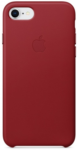 Чехол Apple Leather Case MQHA2ZM/A для iPhone 7/8 (PRODUCT Red)