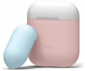 Чехол Elago Silicone DUO (EAPDO-PK-WHPBL) для AirPods (Pink/White/Pastel Blue)