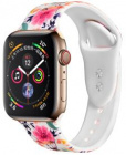 Ремешок COTEetCI W38 Flowers (WH5266-RD) для Apple Watch Series 4 44mm (White)