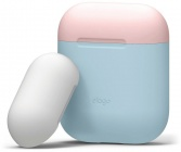 Чехол Elago Silicone DUO (EAPDO-PBL-PKWH) для AirPods (Pastel Blue/Pink/White)